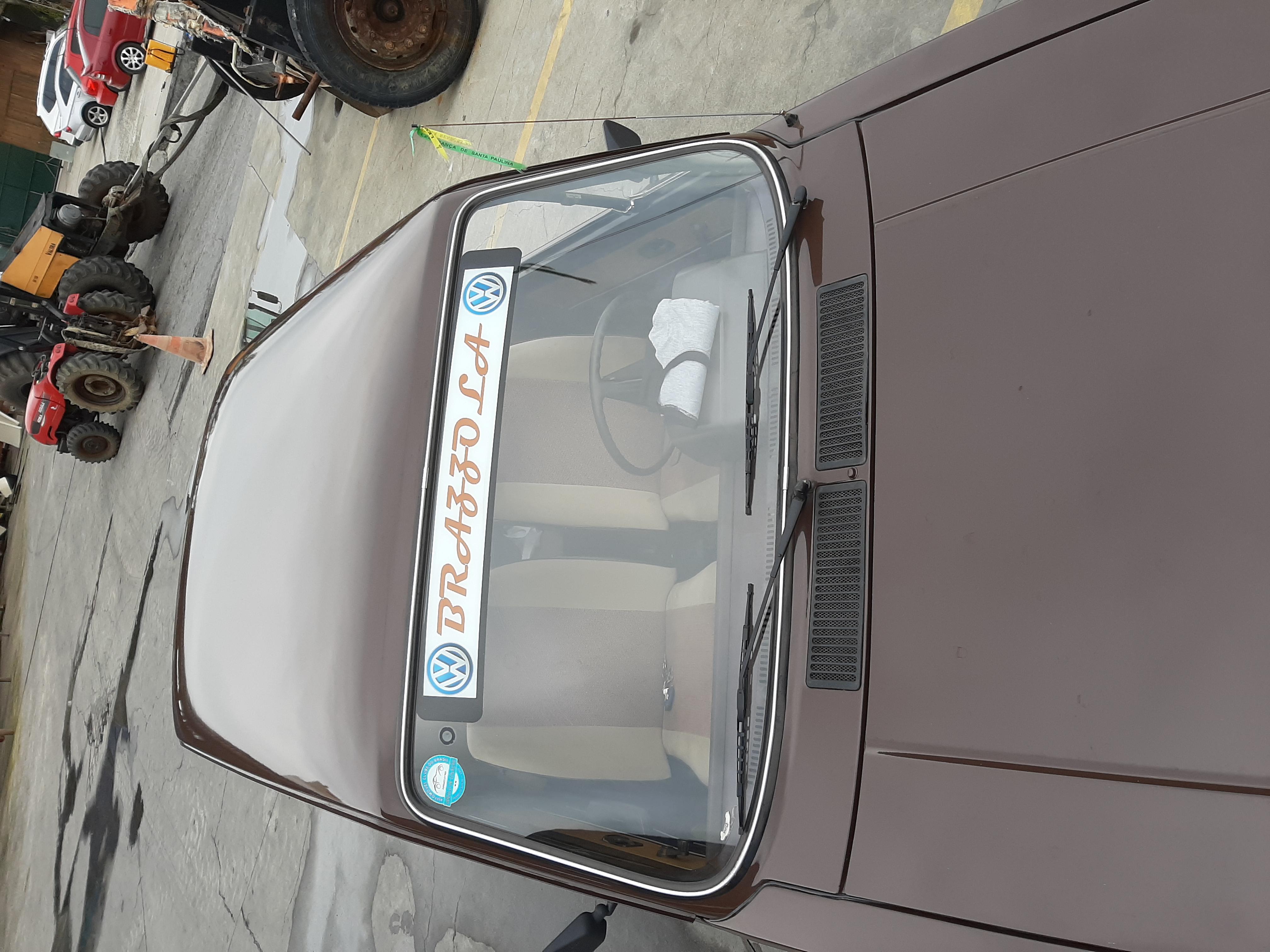 VW BRASILIA LS 1980 PLACA PRETA